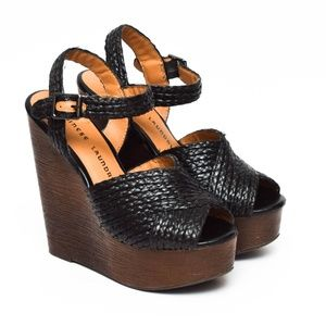 Chinese Laundry Wedge Heels Womens Size 6.5 Black